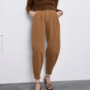 NEW Zara slouchy darted pants